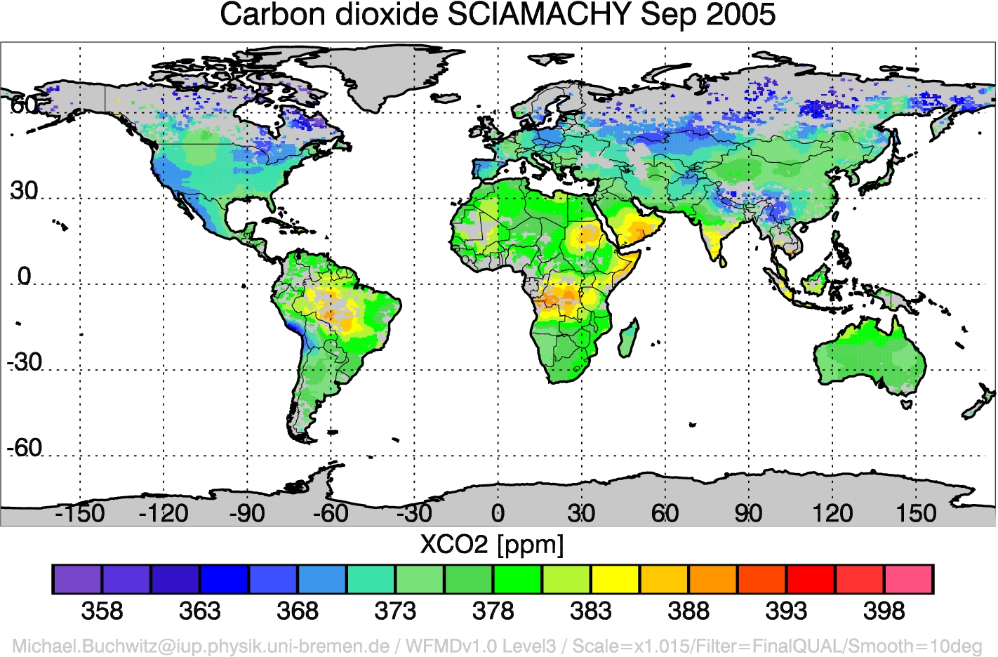 CO2 from SCIAMACHY