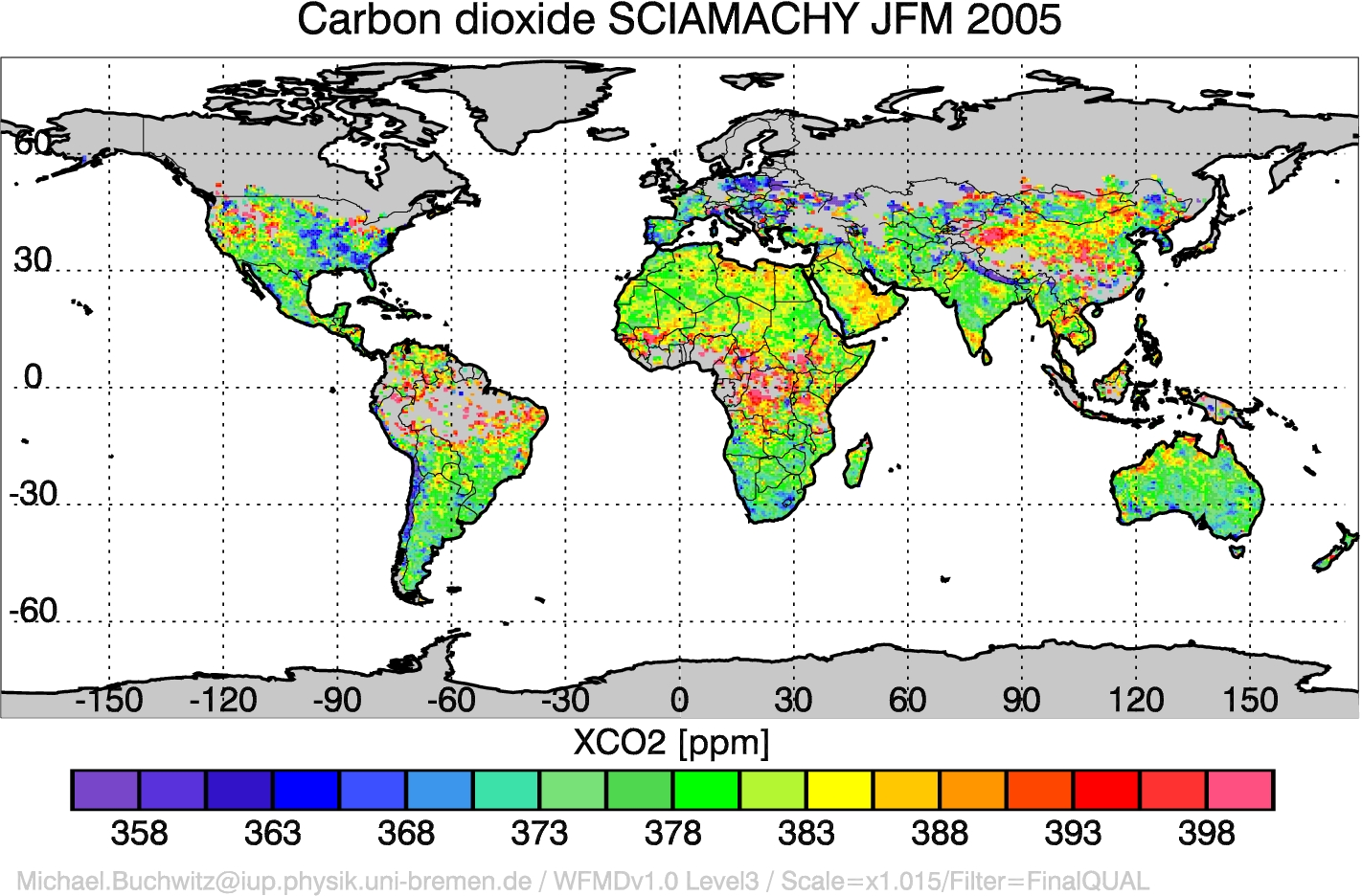 Carbon dioxide from SCIAMACHY