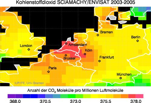 CO2 ueber Europa