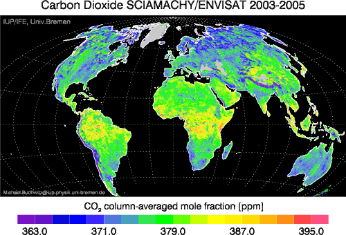 Global CO2 mole fractions