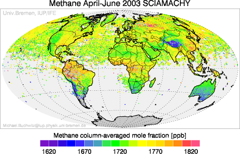SCIAMACHY Methane April-June 2003