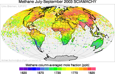 SCIAMACHY Methane July-September 2003