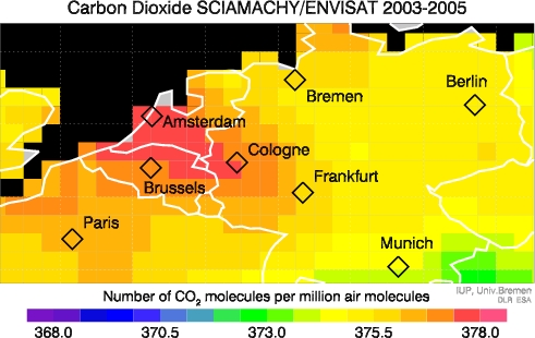 SCIAMACHY CO2 over Europe