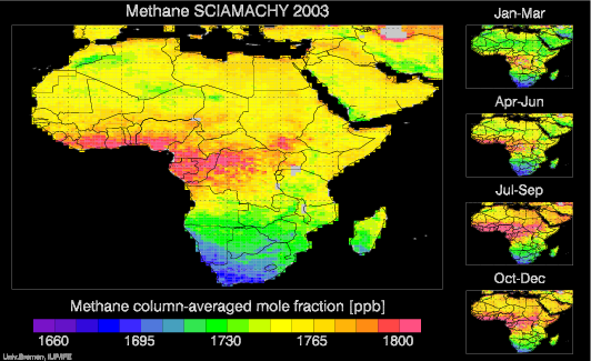 SCIAMACHY Methane over Africa