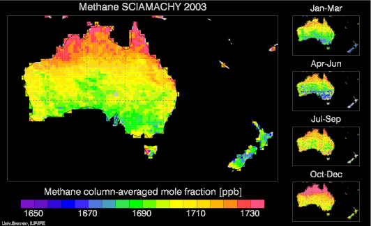 SCIAMACHY Methane over Australia