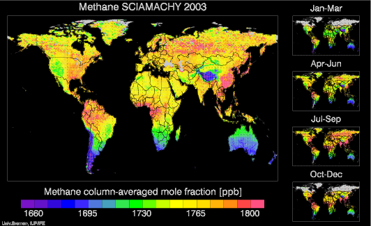 SCIAMACHY Methane globally