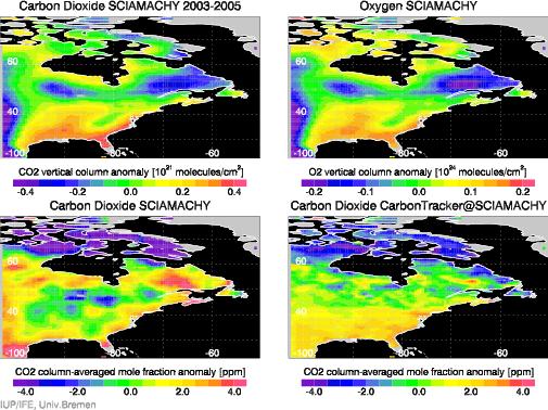 CO2 over North America