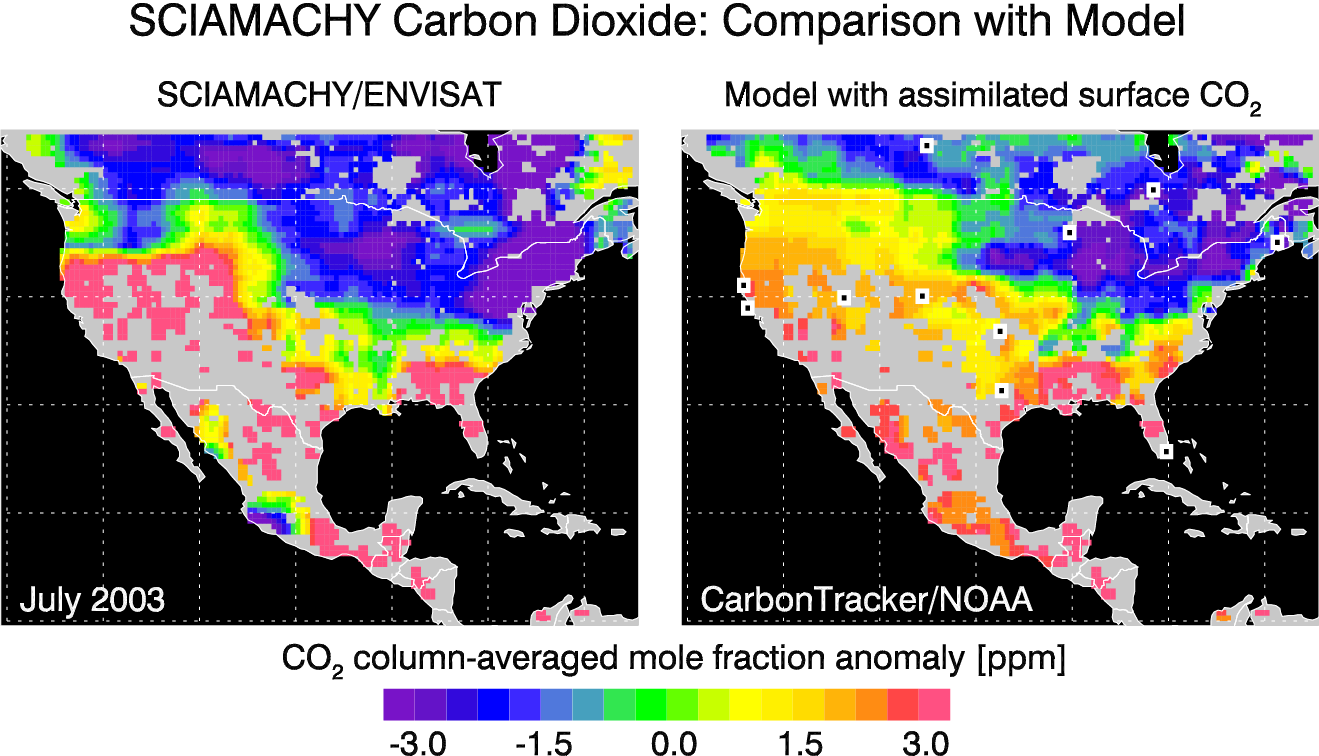 CO2 over North America